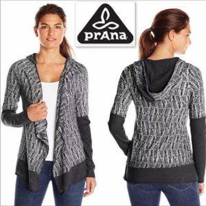 Prana Graceful Wrap Hooded Cardigan Size M